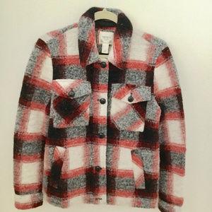 Forever 21 Plaid Wool Blend Jacket